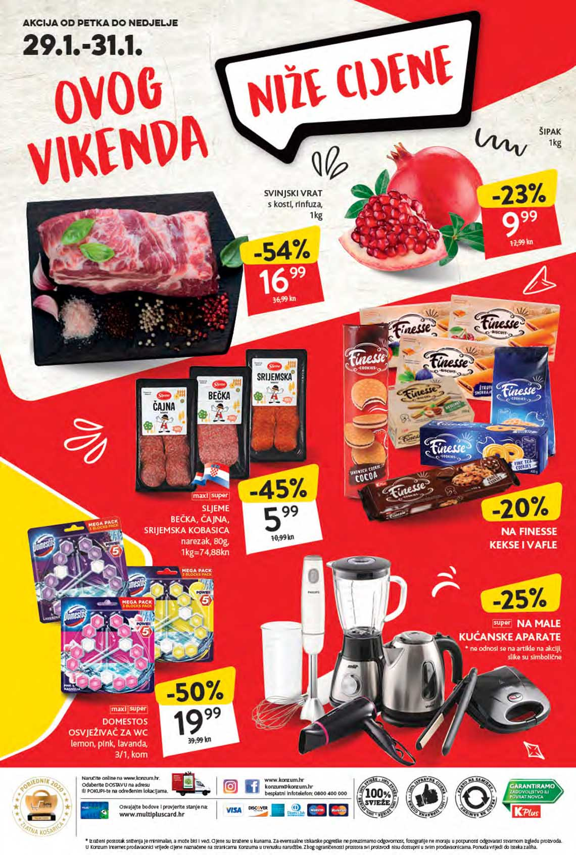 KONZUM VIKEND - Akcija do 31.01.2021.