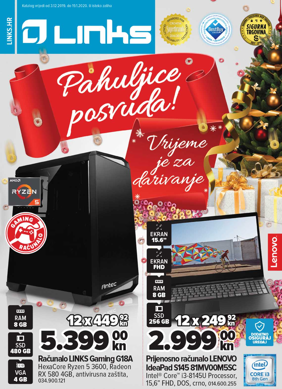 LINKS KATALOG TEHNIKE - PAHULJICE POSVUDA - Akcija do 19.01.2020.