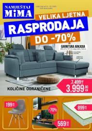 MIMA NAMJEŠTAJ KATALOG  - LJETNA RASPRODAJA - Super akcija sniženja do 31.07.2021.