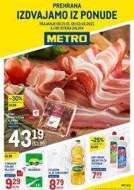 METRO AKCIJA - PREHRANA! Akcija do 03.02.2021.