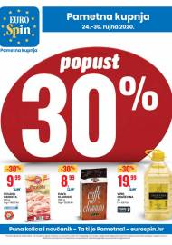 EUROSPIN KATALOG - SUPER SNIŽENJE - PUNA KOLICA I NOVČANIK -  Akcija sniženja do 30.09.2020.