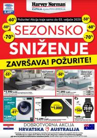 HARVEY NORMAN - SEZONSKO SNIŽENJE - Akcija do 03.02.2020.