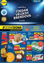 LIDL KATALOG - AKCIJA SNIŽENJA - TJEDAN VELIKIH BRENDOVA - Sniženje do 19.04.2020. godine