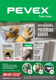 PEVEX KATALOG -  TAKO LAKO - KATALOG GRADNJA - POKRENIMO RADOVE -Akcija do 26.05.2020.
