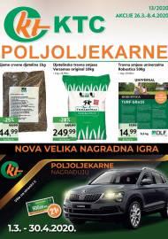 KTC KATALOG POLJOLJEKARNE - Akcija sniženja do 08.04.2020. Godine