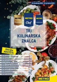 METRO AKCIJA -TRI KULINARSKA ZNALCA! - Akcija do 11.12.2019.