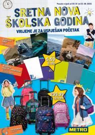 METRO AKCIJA - SRETNA NOVA ŠKOLSKA GODINA! Akcija do 02.09.2020.
