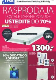 Jysk ponuda - JYSK Katalog -  RASPRODAJA - UŠTEDITE DO 70% - Akcija sniženja do 28.07.2021
