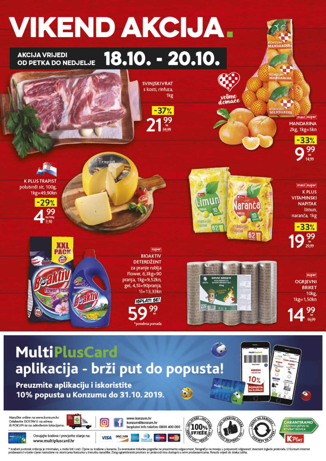 KONZUM VIKEND - Akcija do 20.10.2019.