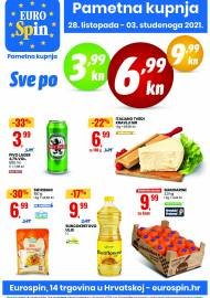 EUROSPIN KATALOG - SUPER SNIŽENJE -  Akcija sniženja do 03.11.2021.