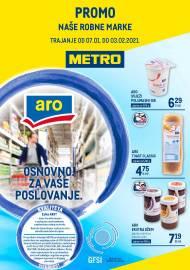 METRO AKCIJA -NAŠE ROBNE MARKE - PREHRANA - Akcija do 03.02.2021.