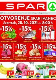 SPAR KATALOG - OTVARANJE SPAR IVANEC - Ponuda prehrambenih namirnica, kozmetike, sredstava za čišćenje vrijedi do 02.11.2020. Ponuda kućanstva, tekstila, tehnike vrijedi do 09.11.2021
