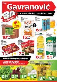 GAVRANOVIĆ KATALOG -Akcija sniženja do 04.11.2020.