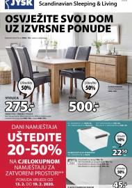Jysk ponuda - JYSK Katalog - Super akcija od 27.02. DO 11.03.2020. - OSVJEŽITE SVOJ DOM UZ IZVRSNE PONUDE
