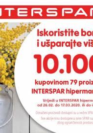 INTERSPAR BONOVI -Akcija do 17.03.2020.