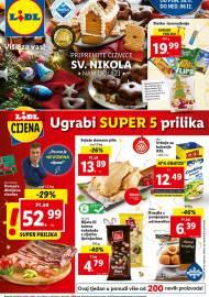 LIDL KATALOG - AKCIJA SNIŽENJA - UGRABI SUPER 5 PRILIKA - Sniženje do 06.12.2020. godine