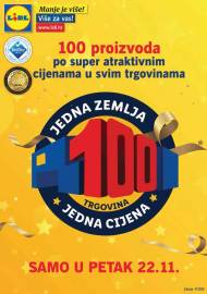 LIDL KATALOG - TOP 100 ARTIKALA PO SUPER CIJENAMA - SAMO U PETAK 22.11.2019 - AKCIJA SNIŽENJA do 24.11.2019