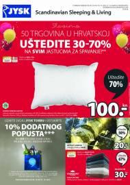 Jysk ponuda - JYSK Katalog - SLAVIMO 50 TRGOVINA U HRVATSKOJ - Akcija sniženja do 10.11.2021